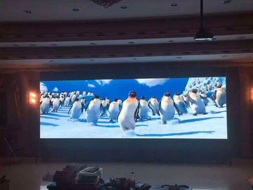 China Digital Hd Video Indoor Full Color LED Display Screen 256 * 128mm Module Clear Vivid Image supplier
