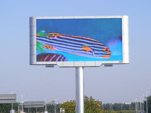 China High Efficiency LED Screen Panels , 6500Nits Brightness Led Big Screen XP/WIN7 Control System supplier