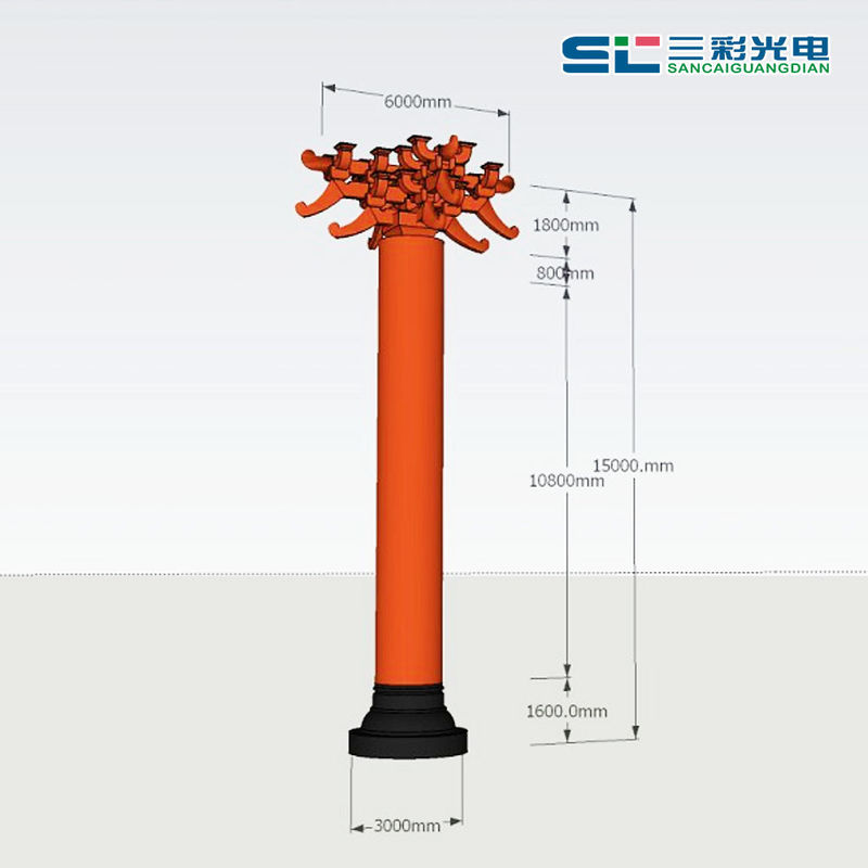 Creative 360 Degree Cylindrical LED Display Floor Standing