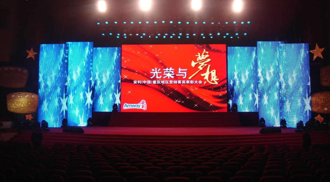 Full Color Stage Led Curtain Display , Floor Standing Led