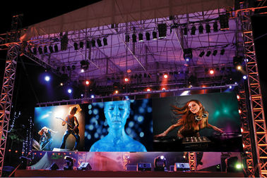 China P3.91 Full Color Outdoor Led Display Module , Led Video Wall Panels Energy Saving distributor