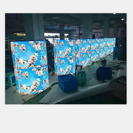 China Super Thin Flexible Led Video Wall , 360°Round Flexible Video Screen For Government Project factory