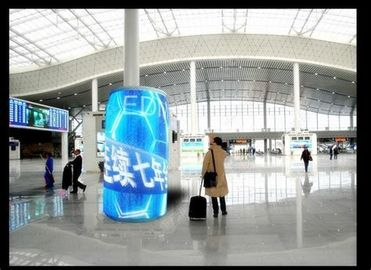 China Quick Response Cylinder Led Display , Exterior Flexible Led Display Panels P5 distributor