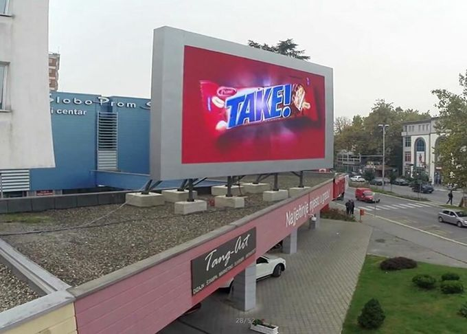High Brightness P10 Outdoor Led Display Board Pixel Pitch 10mm Large