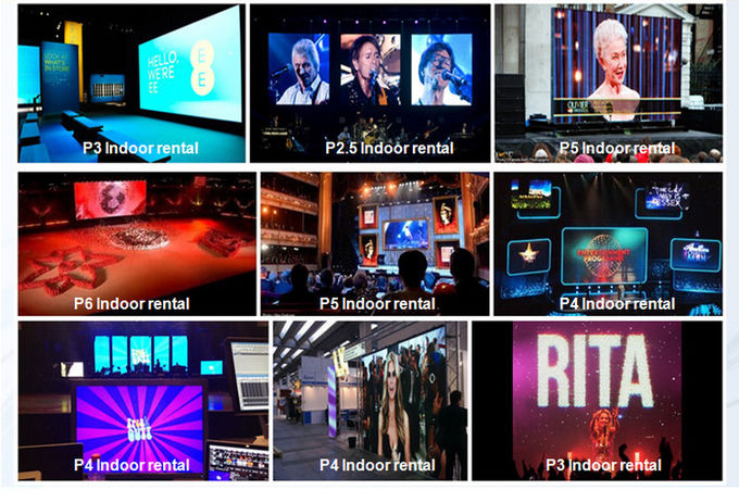 Full Color Indoor Led Video Wall , P4 Led Stage Backdrop Screen 2